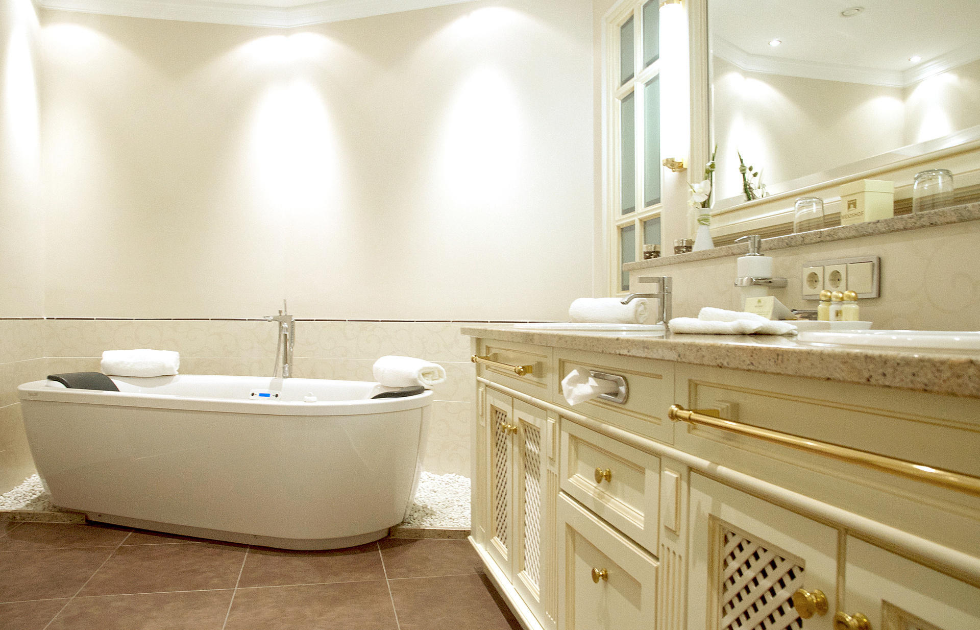 Badezimmer 4 Sterne Superior Hotel Mooshof Bodenmais Bayerischer Wald